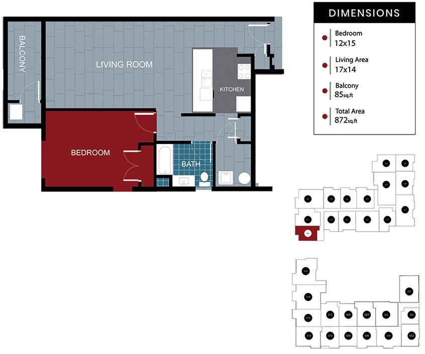 Station House Somerville apartment 516