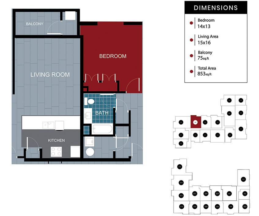 Station House Somerville apartment 520