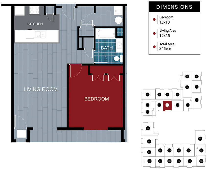 Station House Somerville apartment 521